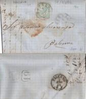 1864 Piego Con Testo 15c DLR Da Marsala Per Palermo 07 - 1900-44 Vittorio Emanuele III