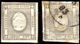 Sardegna-0091 (1861 - Sassone N. 19 (+/o), Privi Di Difetti Occulti). - Sardaigne