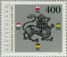 Año 1995 Nº 1637 Aniv. Muerte Henri Le Lion - [7] República Federal