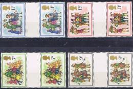 BB 1227 GROOT-BRITTANNIE  XX  YVERT NR 876/879 CUTTER PAIRS ZIE SCAN - Timbres