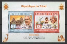 Tchad (2013)  - Block -   /   Pope Francis - Papa - Francisco - Francesco - Jean Paul - Wojtyla - Ioannes Paulus - Pausen