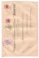 TP Oc 14 S/L.des Assurances 'SECURITAS' C.Antwerpen V.Wavre Ste Catherine Réexpédié&reaffranchie Censures PR2582 - [OC1/25] General Gov.