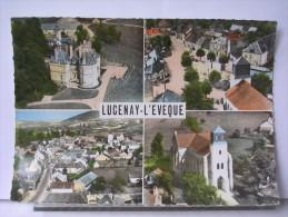 EN AVION AU DESSUS DE ...LUCENAY L´EVEQUE (71) - MULTIVUES - Francia