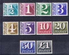 BB 1245 GROOT-BRITTANNIE XX  YVERT NR TAXE 73/82 ZIE SCAN - Taxes