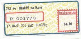 Czech Rep. / APOST (2001) 783 44 Namest Na Hane (A01954) - Czech Republic