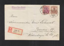 Dt. Reich R-Brief 1921 Berlin Nach Dresden Infla-geprüft - Deutschland