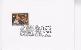 Christkindl Wenskaart Afstempeling 1990 - 1981-90 Lettres