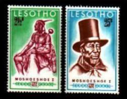 LESOTHO,1970, Mint Never Hinged Stamp(s) King Moshoeshoe, MI Nrs. 80-81, #2609 - Lesotho (1966-...)