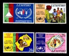LESOTHO, 1973, Mint Lighly Hinged Stamp(s) World Food Programm, MI Nrs. 136-139, #2620 - Lesotho (1966-...)