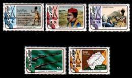 LESOTHO, 1980, Mint Never Hinged Stamp(s), Fire Arms War,  MI Nrs. 286-290, #2650 - Lesotho (1966-...)