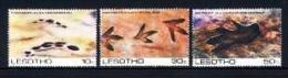 LESOTHO, 1984, Mint Never Hinged Stamp(s), Prehistoric Footprints,  MI Nrs. 475-477, #2674 - Lesotho (1966-...)