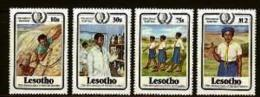 LESOTHO, 1985, Mint Never Hinged Stamp(s), Youth Year,  MI Nrs. 531-534, #2682 - Lesotho (1966-...)