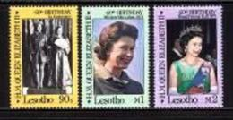 LESOTHO, 1986, Mint Never Hinged Stamp(s), Queen Elizaneth II,  MI Nrs. 580-582, #2691 - Lesotho (1966-...)