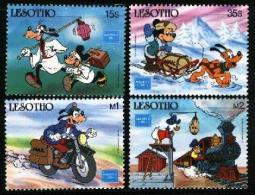 LESOTHO, 1986, Mint Never Hinged Stamp(s), Disney,  MI Nrs. 589-592, #2693 - Lesotho (1966-...)