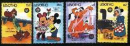 LESOTHO, 1986, Mint Never Hinged Stamp(s), Disney,  MI Nrs. 613-616, #2696 - Lesotho (1966-...)