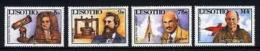 LESOTHO, 1987, Mint Never Hinged Stamp(s), Scientic Pioneers,  MI Nrs. 630-633, #2699 - Lesotho (1966-...)