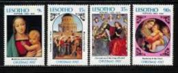 LESOTHO, 1987, Mint Never Hinged Stamp(s), Christmas,  MI Nrs. 671-674, #2705 - Lesotho (1966-...)