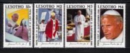 LESOTHO, 1988, Mint Never Hinged Stamp(s), Visit Pope John Paul II,  MI Nrs. 707-710, #2709 - Lesotho (1966-...)