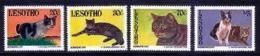 LESOTHO, 1993, Mint Never Hinged Stamp(s), Cats,  MI Nrs. 1066-1069, #2748 - Lesotho (1966-...)