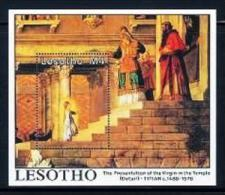 LESOTHO, 1988, Mint Never Hinged Stamp(s), Virgin In The Temple, MI Nrs. Block 53, F1753 - Lesotho (1966-...)