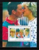 LESOTHO, 1991, Mint Never Hinged Stamp(s), Wedding Diana-Charles, MI Nrs. Block 82, F1782 - Lesotho (1966-...)