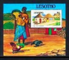 LESOTHO, 1993, Mint Never Hinged Stamp(s), Traditional Houses, MI Nrs. Block 107, F1807 - Lesotho (1966-...)