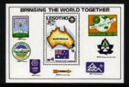LESOTHO, 1987, Mint Never Hinged Stamp(s), World Jamboree, MI Nrs. Block 44, F1744 - Lesotho (1966-...)