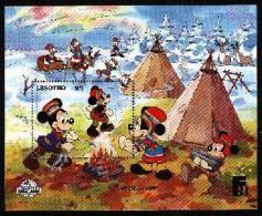 LESOTHO, 1987, Mint Never Hinged Stamp(s), Disney, MI Nrs. Block 49, F1749 - Lesotho (1966-...)