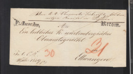 Österreich Tschechien Czechoslovakia Falthülle Auscha Ustek 1839 - Österreich