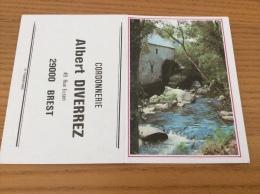 """Calendrier 1986 """"Cordonnerie DIVERREZ BREST (moulin à Eau)"""" (10,5x15cm) - Petit Format : 1981-90"""