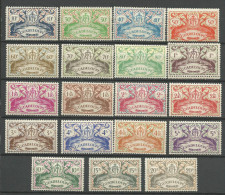 GUADELOUPE N� 178 � 196 NEUF** LUXE SANS CHARNIERE / MNH