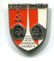 """""""Saliout 6"""" URSS Pologne / (Epinglette Fabriquée En URSS) - Space"""