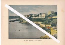 Vers 1900 Belle Chromophotographie. L´Anse De DINARD Excellent état - Prints & Engravings