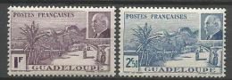 GUADELOUPE N� 161 ET 162 NEUF* AVEC  CHARNIERE / MH