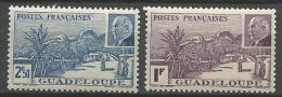 GUADELOUPE N� 161 et 162 NEUF** LUXE SANS  CHARNIERE / MNH