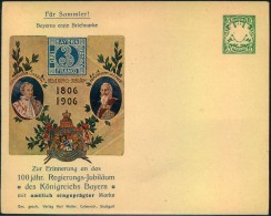 1906, Privatganzsachenumschlag - Bavaria