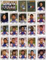 FOOT STICKERS UEFA PANINI EURO 92 - N°039 à 063 - 25 STICKERS EQUIPE DE FRANCE COMPLETE - VOIR PHOTO ET DESCRIPTION - Panini