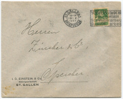 735 - Perfin Beleg Von I.D. Einstein & Co. St. Gallen