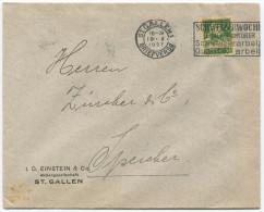 735 - Perfin Beleg Der Firma I.D. Einstein & Co. St. Gallen - Lettres & Documents