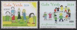 Cabo Verde 2014 - Dessins D'enfants Children's Drawings Kinderzeichnungen Mi. 1027-1028  2 Val. MNH - Cap Vert
