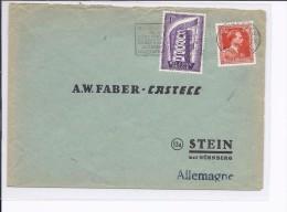 1957.N°995-1006 Bruxelles X S/l.double Port 1957 V.Stein (All.).Bonne Valeur S/lettre.TB - Belgique