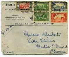 Lettre Par Avion  De DAKAR / Sénégal / Pour Menthon Haute Savoie / 1939 / Au Recto Cachet Daguin - Covers & Documents