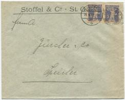 737 - Perfin Beleg Der Firma Stoffel & Co. St. Gallen - Briefe U. Dokumente