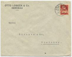 733 - Perfin Beleg Der Firma Otto Lobeck & Co. Herisau - Suisse