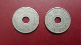 Israel-mandate Coins-(10 Mils)-(1927)-good - Israël