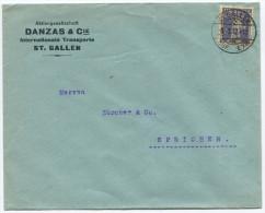 732 - Perfin Beleg Der Firma Danzas & Cie. St. Gallen - Briefe U. Dokumente