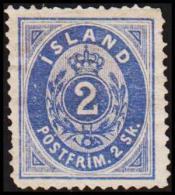 1873. Skilding. 2 Skilling Blue. Perf. 14x13½. Scarce Stamp. Missing Perfs. (Michel: 1A) - JF191403 - Oblitérés
