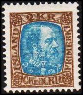 1904. King Christian IX. 2 Kr. Brown/greenblue. Only 30.000 Issued. (Michel: 46) - JF191406 - Oblitérés