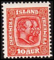 1907. Two Kings. 10 Aur Red. Perf. 12 3/4, Wm. Crown (Michel: 53) - JF191413 - Oblitérés