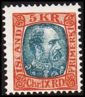 1904. King Christian IX. 5 Kr. Redbrown/grey. Only 17.200 Issued. (Michel: 47) - JF191410 - Oblitérés
